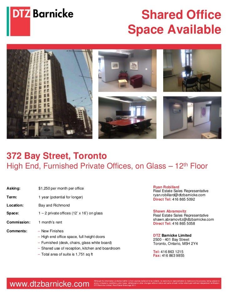 Shared Office                                                                                              Space Available...