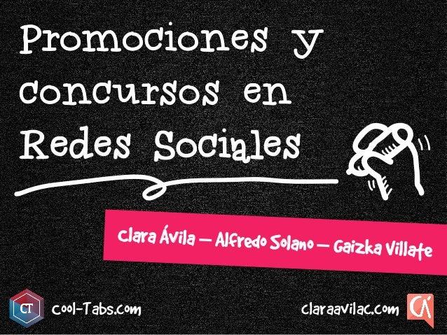 Redes Sociales Cool-Tabs.com Clara Ávila – Alfredo Solano – Gaizka Villate claraavilac.com