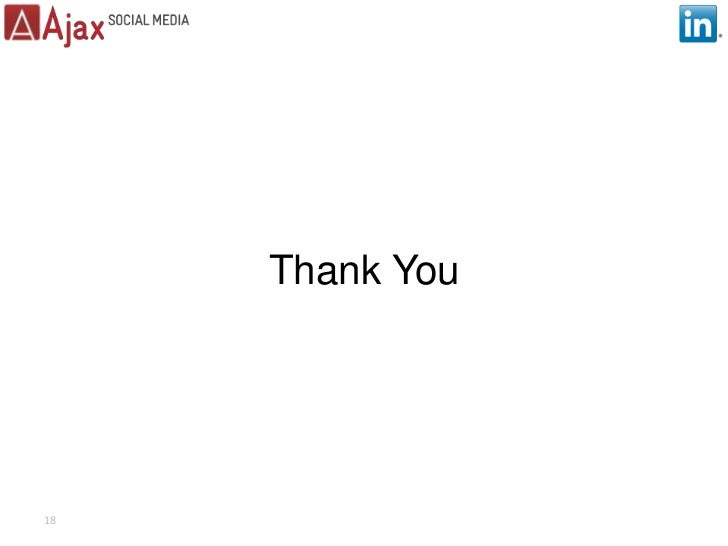 Thank You<br />18<br />