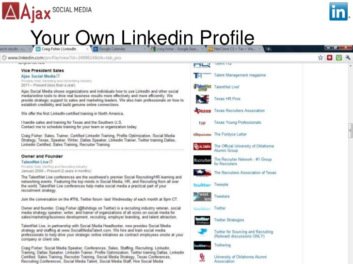 Your Own Linkedin Profile<br />5<br />