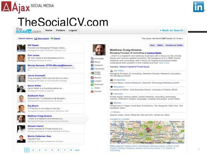 TheSocialCV.com<br />9<br />