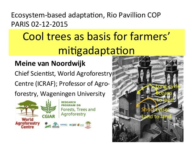 Cooltreesasbasisforfarmers' mi/gadapta/on Ecosystem-basedadapta/on,RioPavillionCOP PARIS02-12-2015 Meinevan...