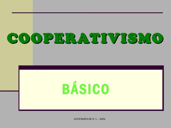 COOPERATIVISMO BÁSICO