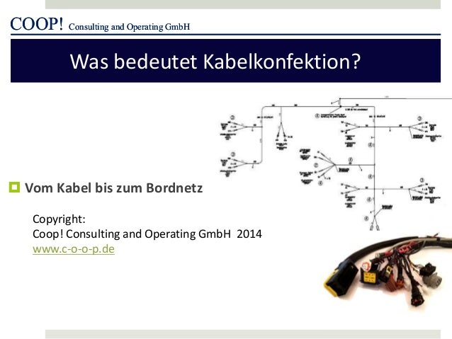 COOP! Consulting and Operating GmbH Was bedeutet Kabelkonfektion? COOP! Consulting and Operating GmbH  Vom Kabel bis zum ...