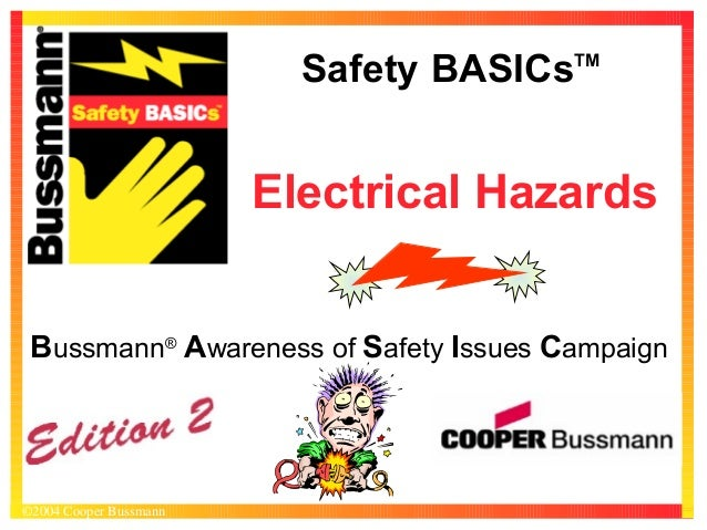 Safety BASICs  TM  Electrical Hazards Bussmann® Awareness of Safety Issues Campaign  ©2004 Cooper Bussmann