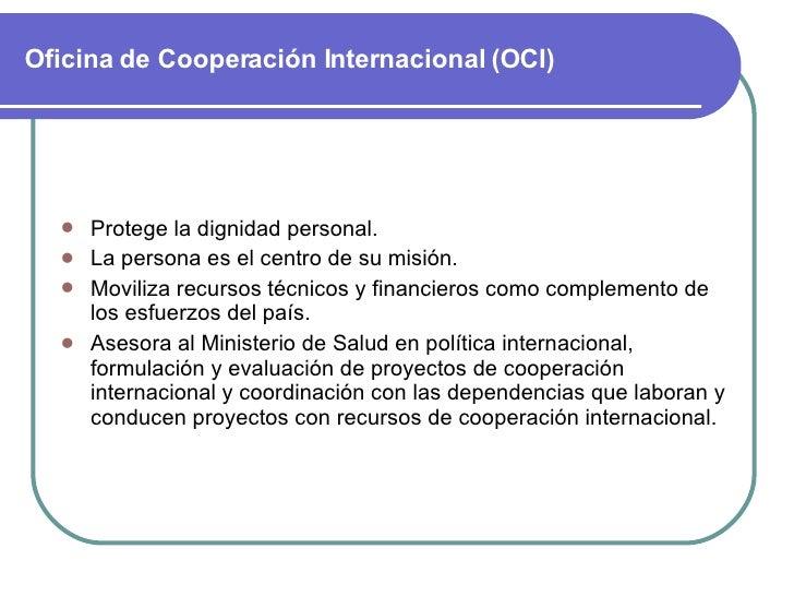 Cooperacion internacional for Oficina internacional de epizootias