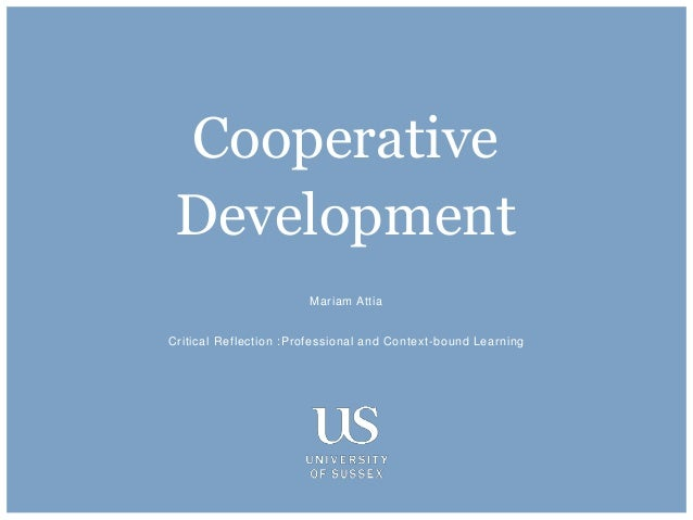 Mariam Attia Critical Reflection :Professional and Context-bound Learning Cooperative Development