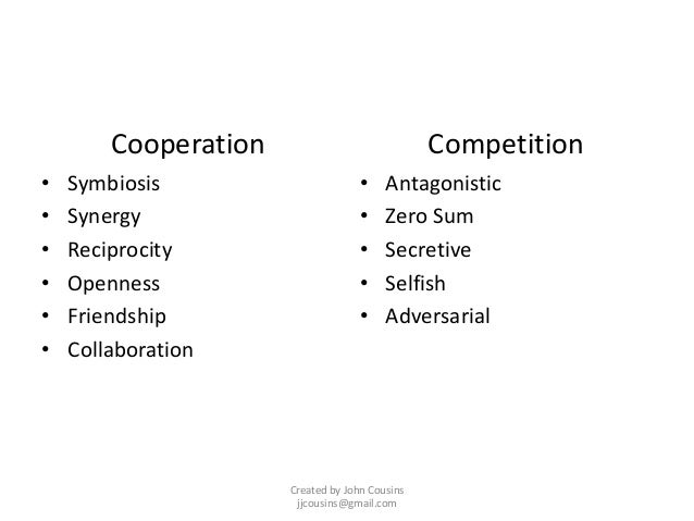 Cooperation: Strategic Alternative to Competition