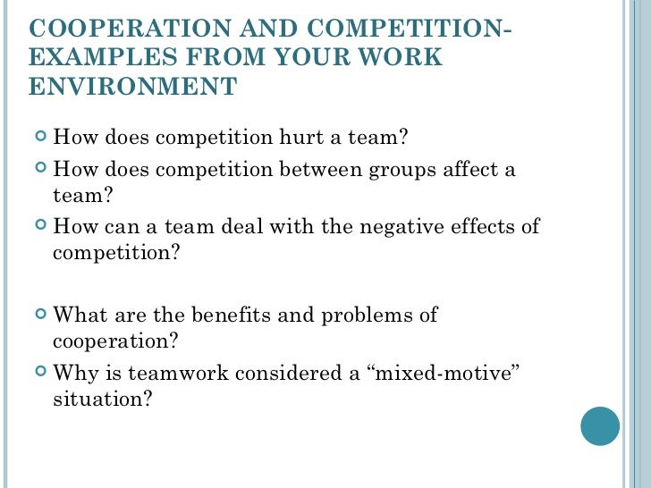 Cooperation, competition, conflict, and power in teams