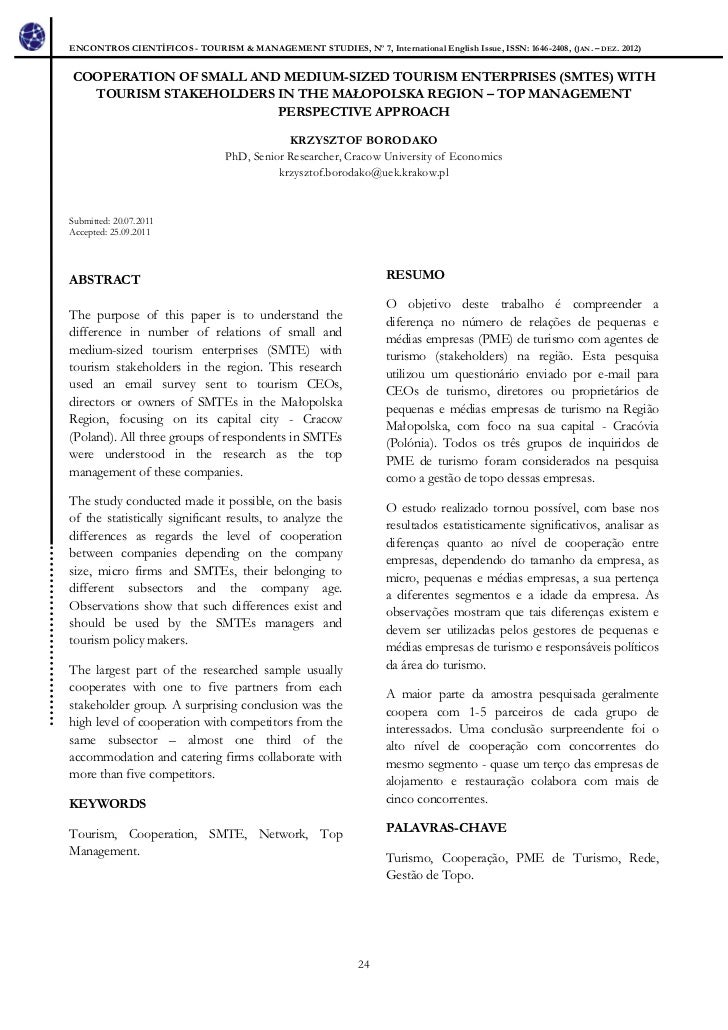 ENCONTROS CIENTÍFICOS - TOURISM & MANAGEMENT STUDIES, Nº 7, International English Issue, ISSN: 1646-2408, (JAN. – DEZ. 201...