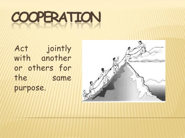 Cooperation vs Competition Slide 2