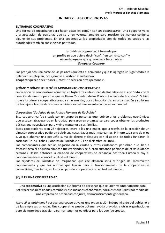 ICM – Taller de Gestión I                                                                   Prof.: Mercedes Sanchez Viamon...
