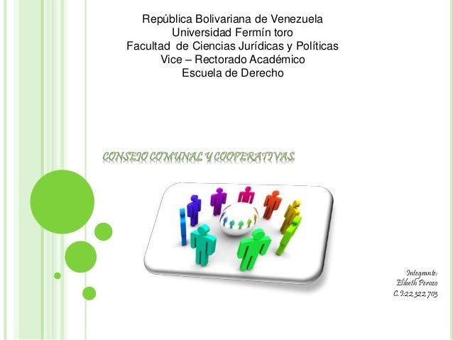 República Bolivariana de Venezuela Universidad Fermín toro Facultad de Ciencias Jurídicas y Políticas Vice – Rectorado Aca...