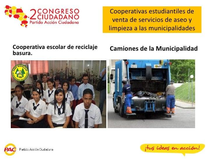 Cooperativas estudiantiles de                                     venta de servicios de aseo y                            ...