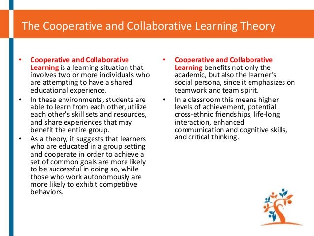 cooperative and collaborative learning How to teach students the difference between collaboration and cooperative learning learn strategies to build a collaborative learning environment in your classroom.