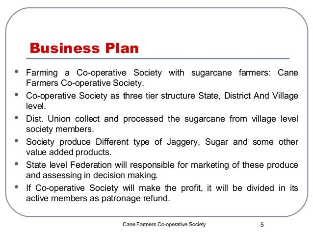 Co operative business plan group-1