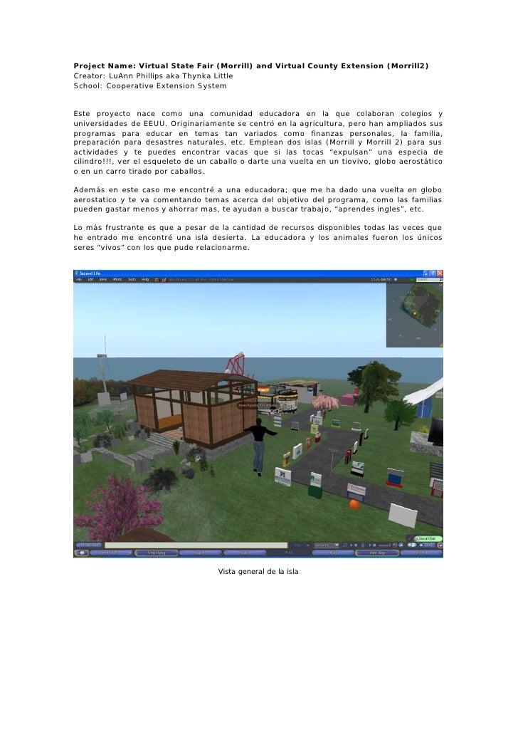 Project Name: Virtual State Fair (Morrill) and Virtual County Extension (Morrill2) Creator: LuAnn Phillips aka Thynka Litt...