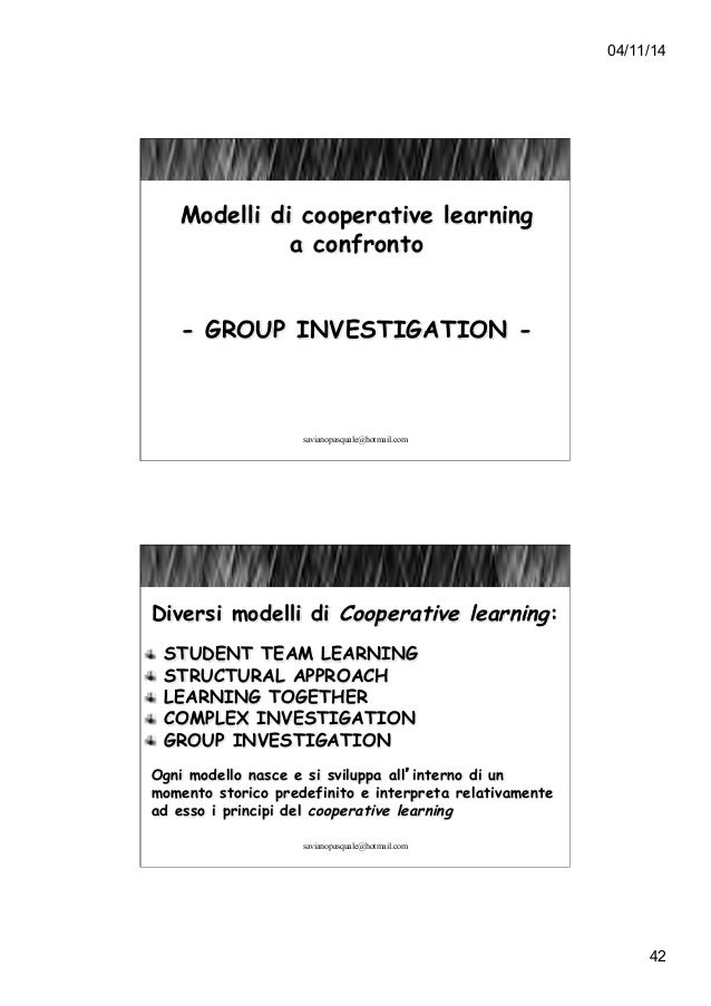 Cooperative Learning Group Investigation 105