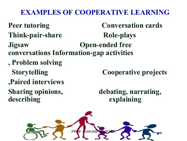 cooperative learning Cooperative learning is an approach to organizing classroom activities into academic and social learning experiences it differs from group work, and it has been described as structuring.