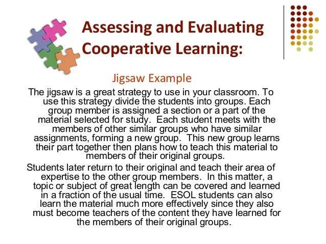 Collaborative Learning Classroom Activities : Cooperative learning