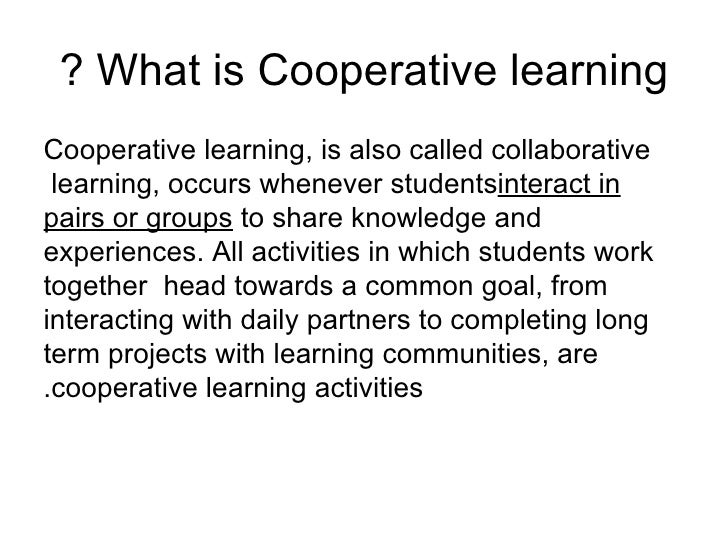 cooperative learning ppt