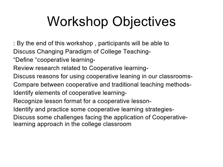 Collaborative Teaching Strategies ~ Cooperative learning
