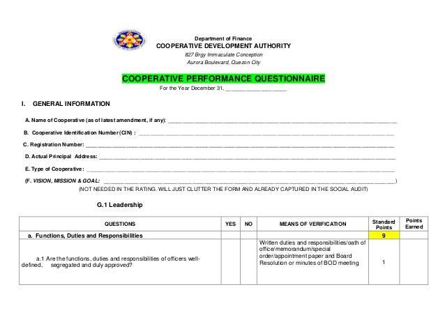 Department of Finance                                                       COOPERATIVE DEVELOPMENT AUTHORITY             ...