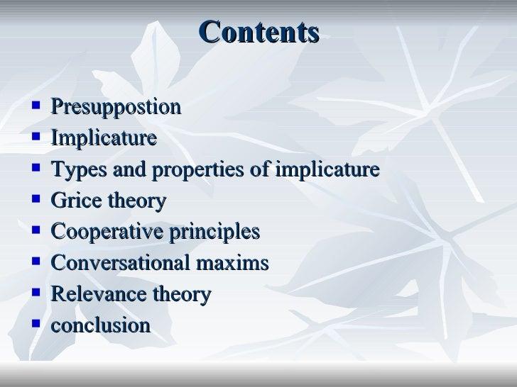 Custom Grice's Theories Essay