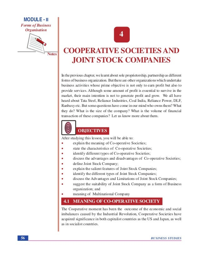 business plan cooperative society act