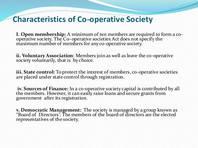 characteristics of a cooperative This publication provides an overview of cooperative finance and the characteristics of cooperatives that make their financial requirements unique.