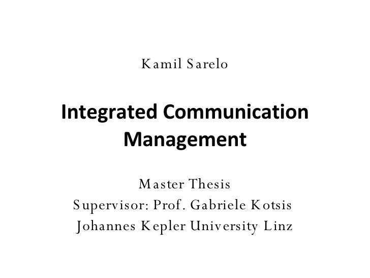 Master thesis quality management