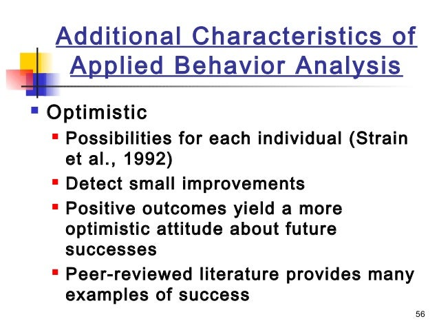 applied behavioral analysis Applied behavior analysis (aba) is the science of controlling and predicting human behavior.