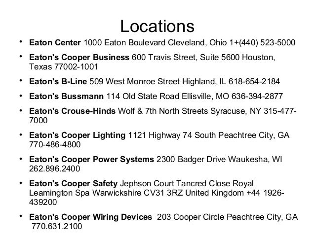 ... Electronics; 7.  sc 1 st  SlideShare & Cooper company profile