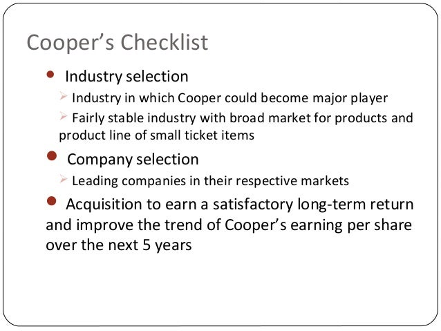 an analysis of cooper industries inc Introduction cooper industries, inc is a manufacturer of heavy machinery and  equipment it has acquired some companies in the past as part of their expansion .