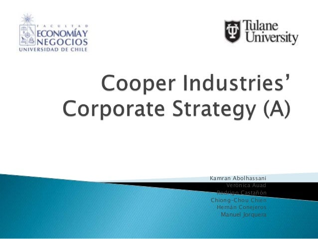 should cooper acquire nicholson In order to acquire nicholson file company, cooper industries risk management policy and acquisition analysis risk management policy and acquisition.