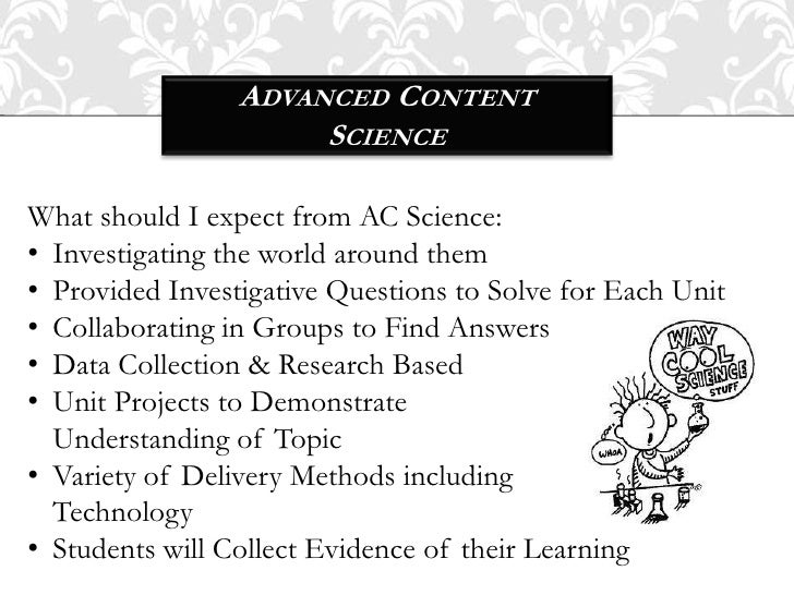 Cooper MS Requirements for Advanced Content