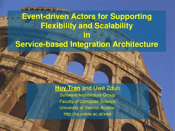 Event-driven Actors for Supporting      Flexibility and Scalability                   inService-based Integration Architec...