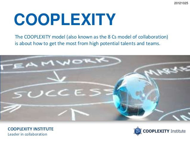 COOPLEXITY INSTITUTE Leader in collaboration COOPLEXITY The COOPLEXITY model (also known as the 8 Cs model of collaboratio...