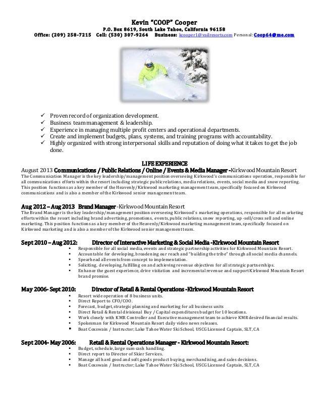 coop resume may 2015