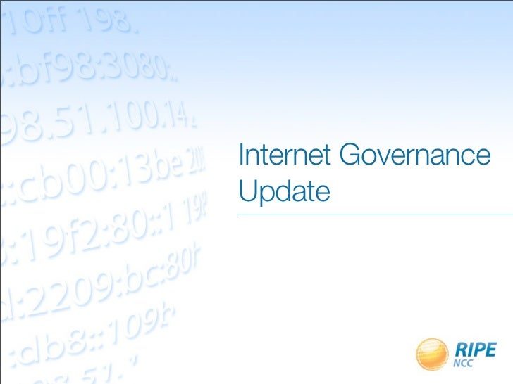 Internet GovernanceUpdate