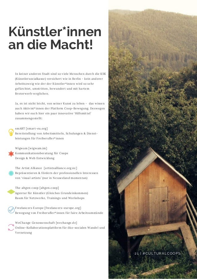 In keiner anderen Stadt sind so viele Menschen durch die KSK (Künstlersozialkasse) versichert wie in Berlin - kein anderer...