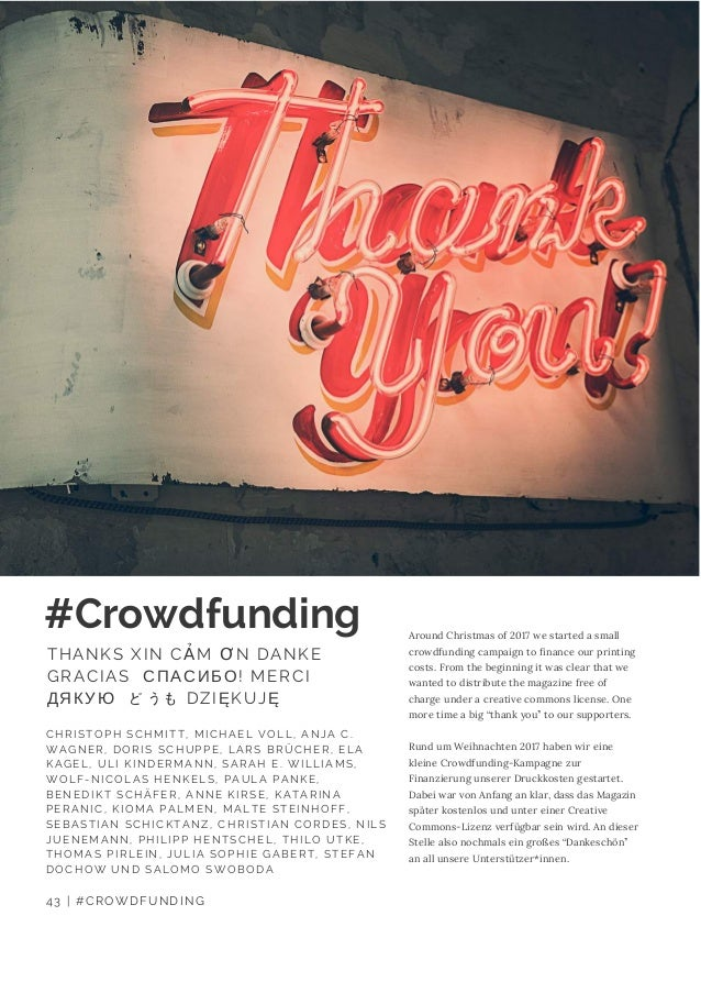 Around Christmas of 2017 we started a small crowdfunding campaign to finance our printing costs. From the beginning it was...