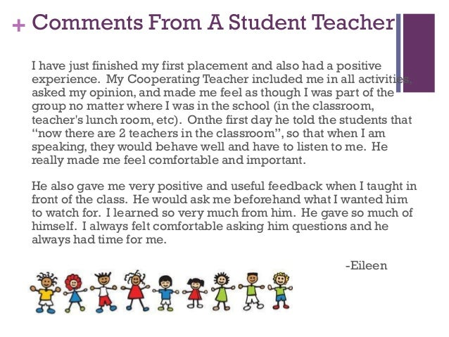 Coop teacher 1 13 comments from a student teacher expocarfo