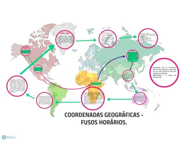 Coordenadas geográficas  e fusos