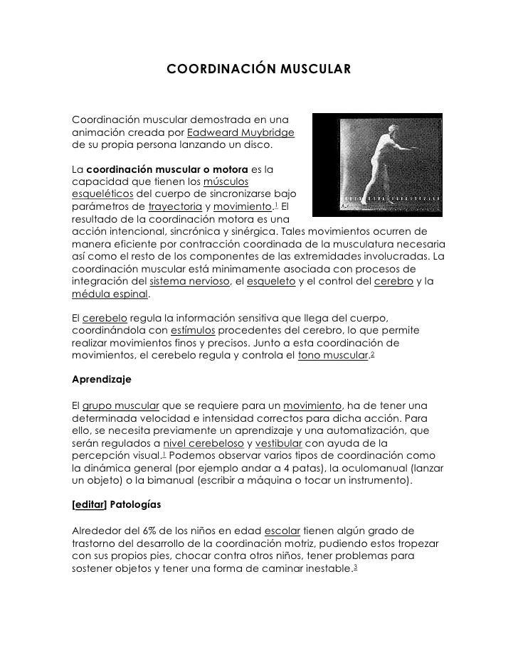 COORDINACIÓN MUSCULAR<br />36156902540Coordinación muscular demostrada en una animación creada por Eadweard Muybridge de s...