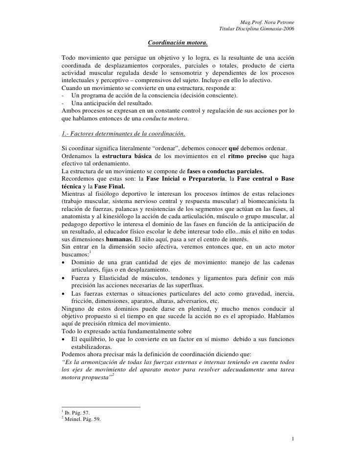 Mag.Prof. Nora Petrone                                                             Titular Disciplina Gimnasia-2006       ...