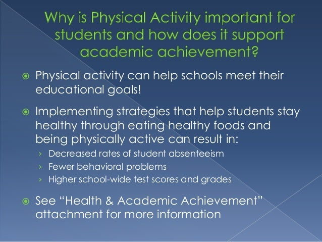  The PAPE Report lets the State Department of Education know how each school is implementing the 90 minute physical activ...