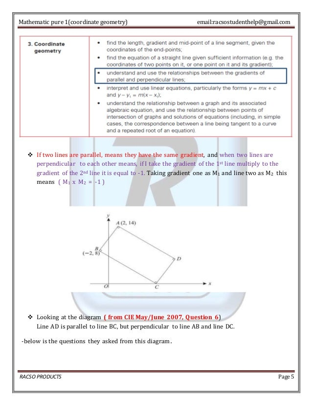 As level coordinate geometry explained racso products page 4 5 mathematic pure 1coordinate geometry ccuart Images