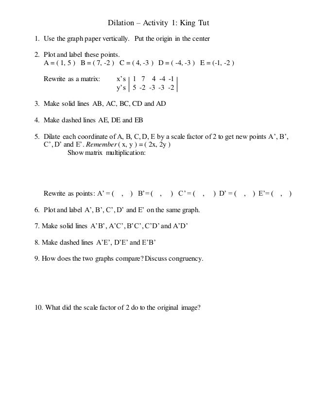 Dilation Math Worksheets Delibertad – Dilations Worksheet