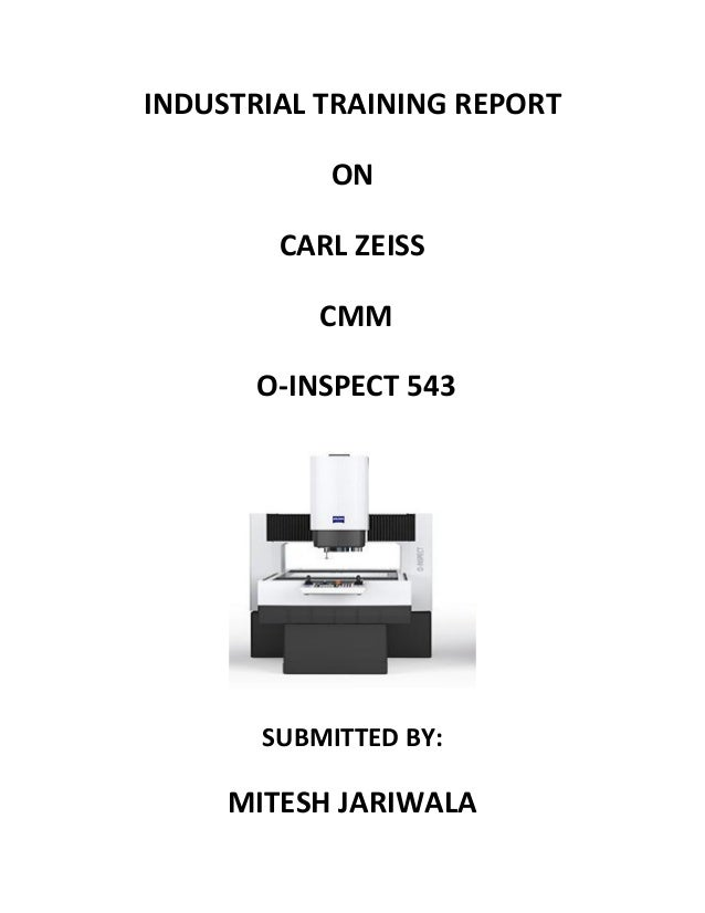 Carl-Zeiss Coordinate measuring machine report (O-INSPECT 543)